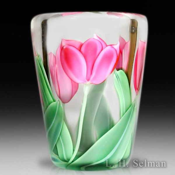 Orient & Flume 1986 pink tulip vase, by Bruce Sillars. by  Orient & Flume