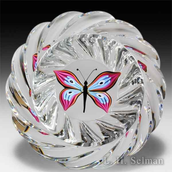 Saint Louis 2011 'Le Papillon' butterfly glass paperweight. by Modern Saint Louis