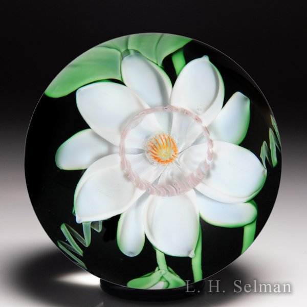Orient & Flume 1984 passion flower glass paperweight, by Bruce Sillars.  by  Orient & Flume