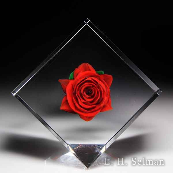 Rick Ayotte 1996 American beauty red rose lozenge sculpture. by Rick Ayotte