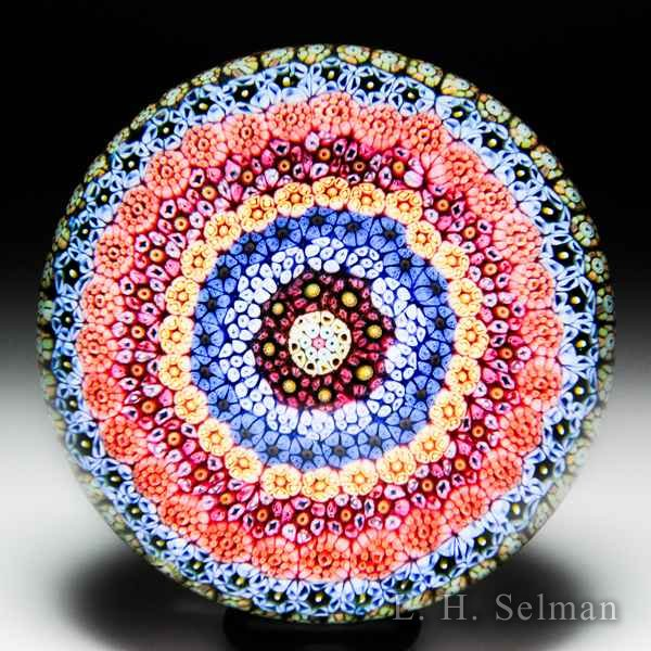 Baccarat 1968 close concentric millefiori paperweight. by Baccarat Moderns