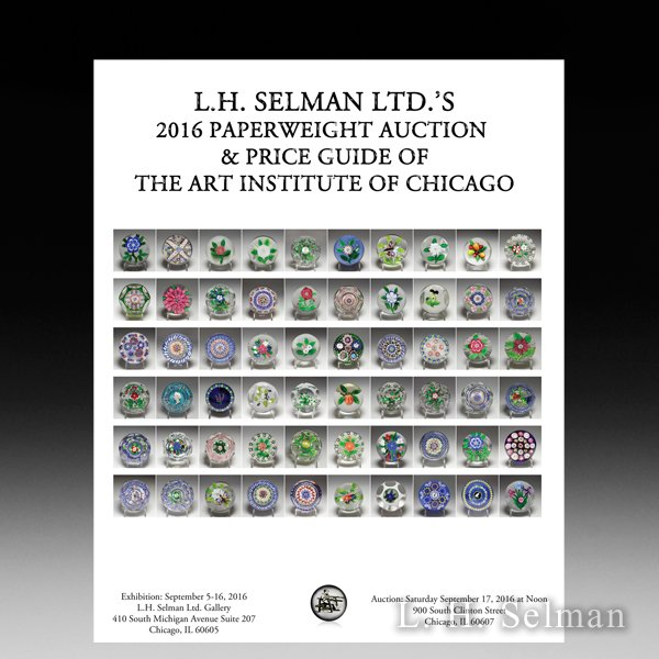 Art Institute of Chicago Paperweight Auction 2016 by L.H. Selman