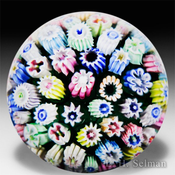 John Deacons (2017) close packed millefiori miniature paperweight. by John Deacons