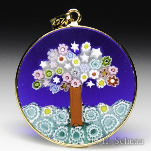 Antica Murrina Veneziana, Murrano glass millefiori multi-colored tree pendant. by  Misc Modern