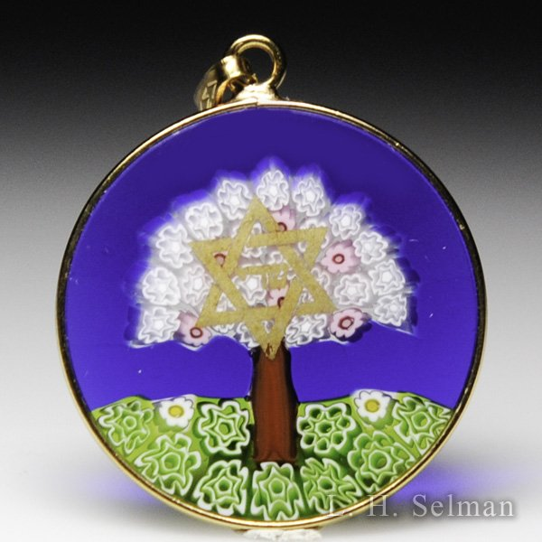 Antica Murrina Veneziana, Murrano glass lavendar tree Star of David pendant. by  Misc Modern