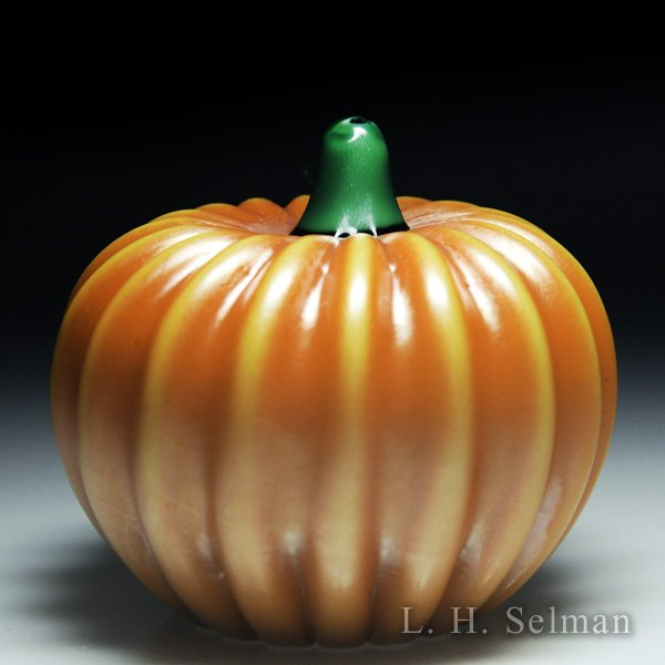 Orient & Flume orange pumpkin sculpture. by  Orient & Flume