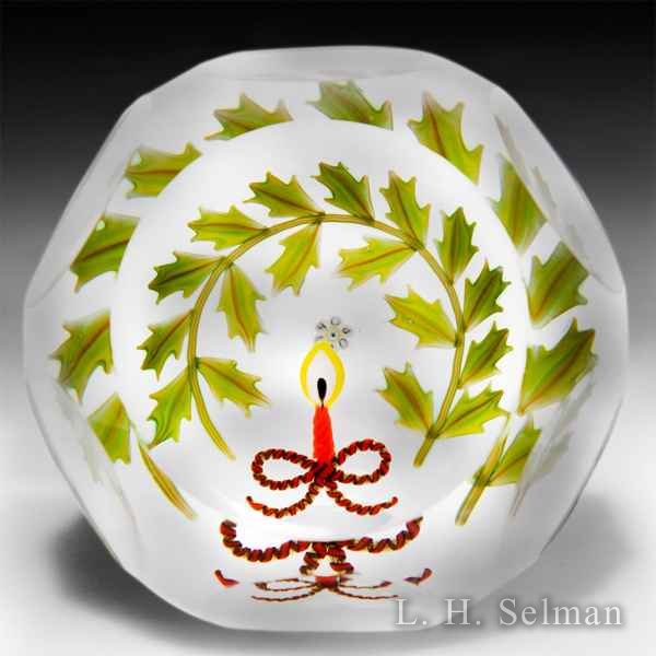 Peter McDougall Christmas 2009 glass glass paperweight, L.H. Selman Ltd. special edition. by Peter McDougall