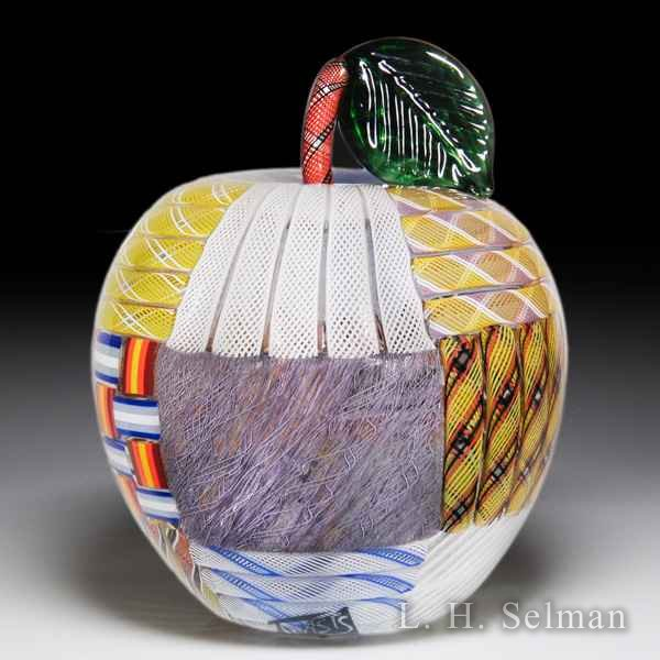 Mike Hunter 2017 patch work apple sculpture. by Twists Glass Studio