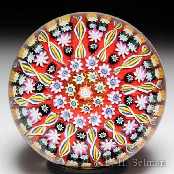 Perthshire Paperweights radial spokes glass paperweight. by  Perthshire Paperweights