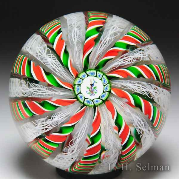 Perthshire Paperweights 1985 Christmas crown paperweight. by Perthshire Paperweights