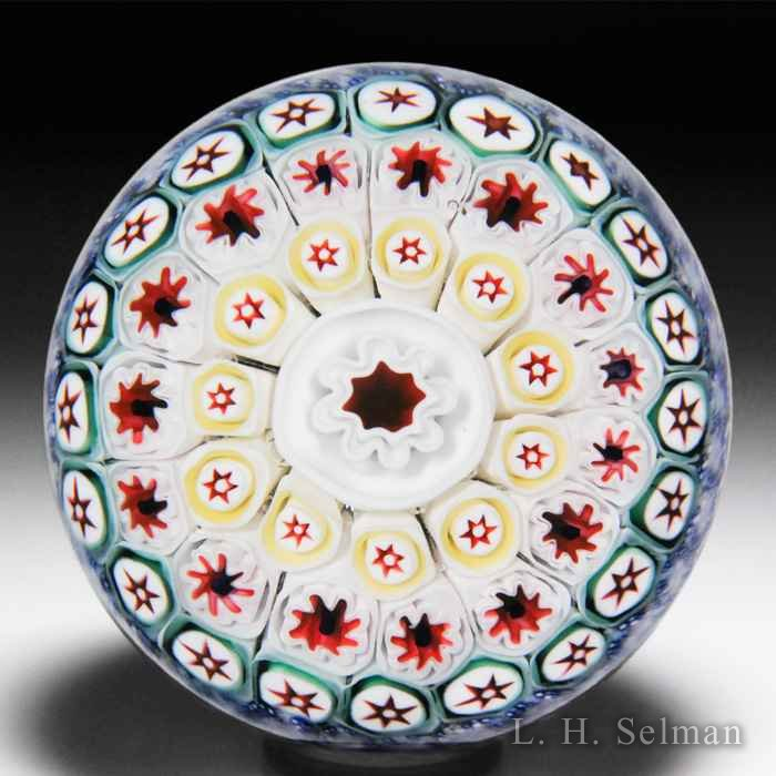 Antique Bacchus close concentric millefiori glass paperweight. by  English Antique