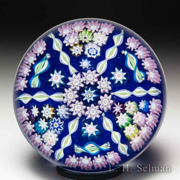 Perthshire Paperweights (1996-1997) patterned millefiori and radial twists miniature glass paperweight. by  Perthshire Paperweights