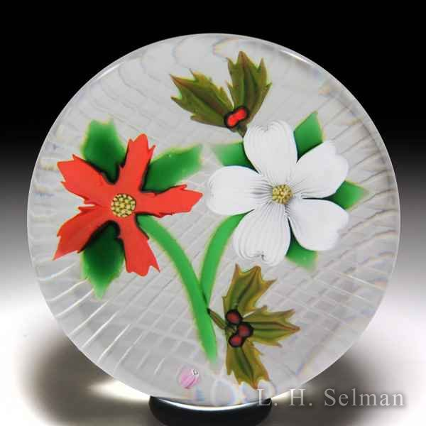 Perthshire Paperweights (1984) 'Christmas Bouquet' paperweight. by Perthshire Paperweights