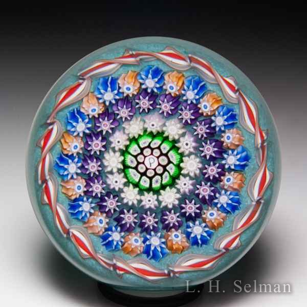 Perthshire Paperweights (1990-1997) patterned millefiori miniature paperweight. by  Perthshire Paperweights