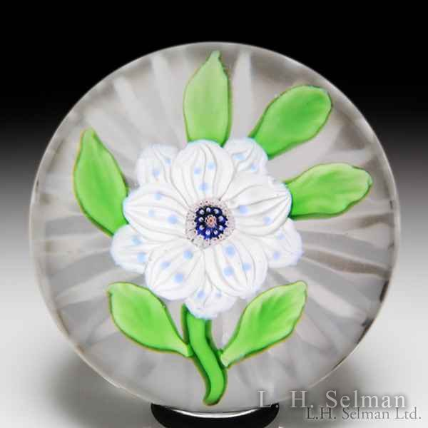 Antique Baccarat wheatflower miniature paperweight. by  Baccarat Antique