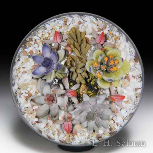 Gordon Smith 2018 blooming succulent plants paperweight. by Gordon Smith