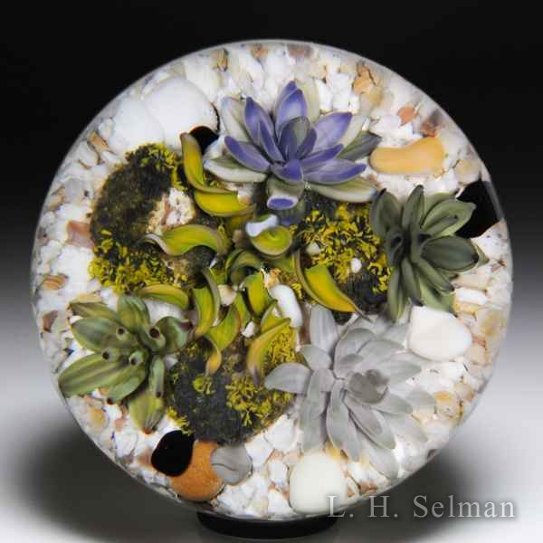 Gordon Smith 2018 succulents and moss paperweight. by Gordon Smith