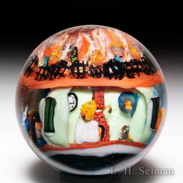 Greg Chase 2010 'French Quarters' murrine with skulls marble. by  Misc Modern