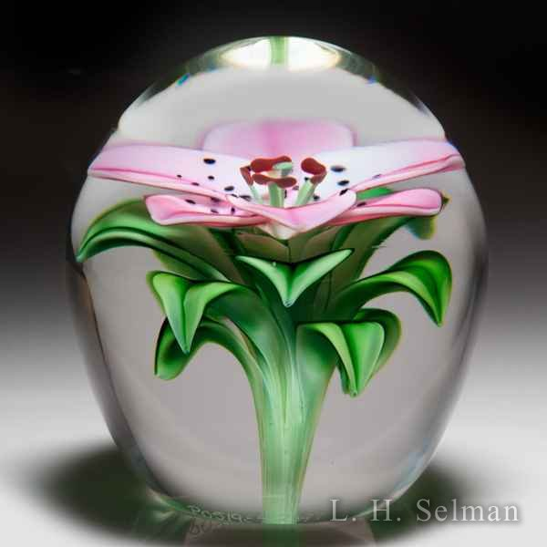Orient & Flume Art Glass 'Daylily' high-domed paperweight, by Bruce Sillars. by Orient & Flume