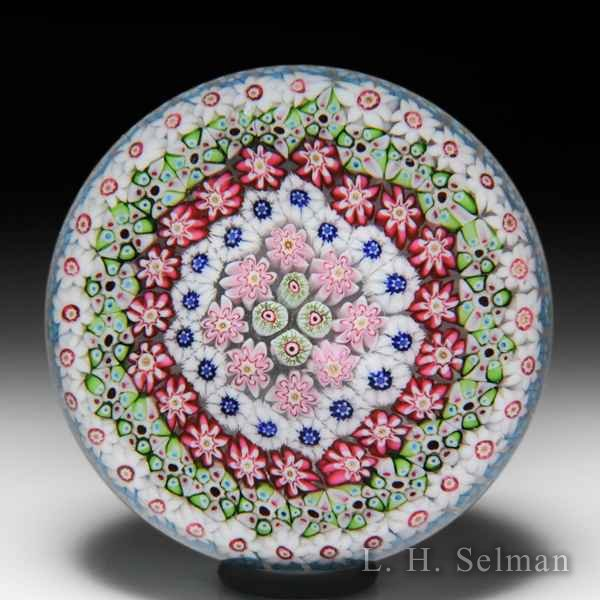 Antique Clichy concentric millefiori paperweight. by Clichy