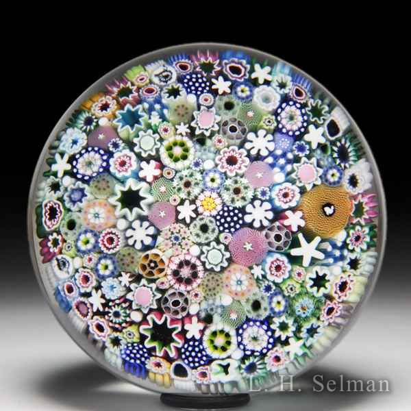 Damon MacNaught 2015 close packed millefiori paperweight. by Damon MacNaught