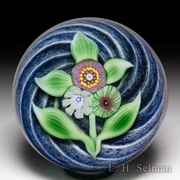 Chris Sherwin 2019 millefiori nosegay glass paperweight. by Christopher Sherwin