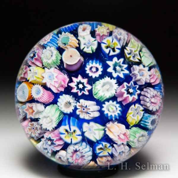 John Deacons close packed millefiori miniature paperweight. by John Deacons
