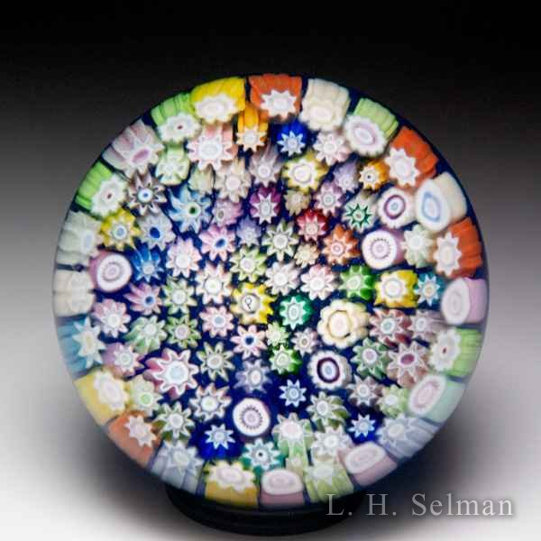 Perthshire Paperweights 2001 Paperweight Collectors Association close packed millefiori miniature paperweight. by Perthshire Paperweights