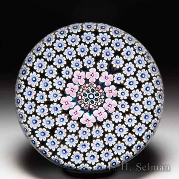 Damon MacNaught 2019 millefiori carpet ground glass paperweight. by Damon MacNaught