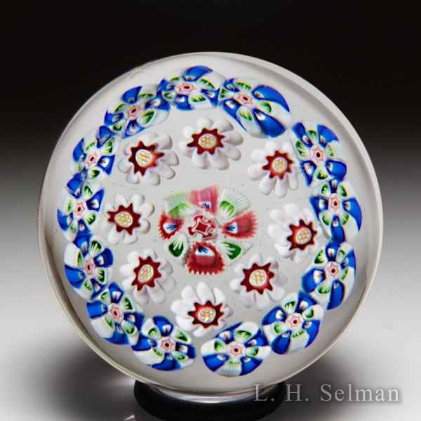 Antique Baccarat close concentric millefiori miniature glass paperweight. by  Baccarat Antique