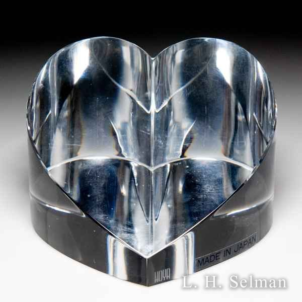 Hoya Crystal clear heart sculpture. by  Misc Modern