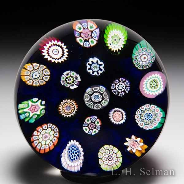 Perthshire Paperweights 1974 spaced concentric millefiori paperweight. by  Perthshire Paperweights