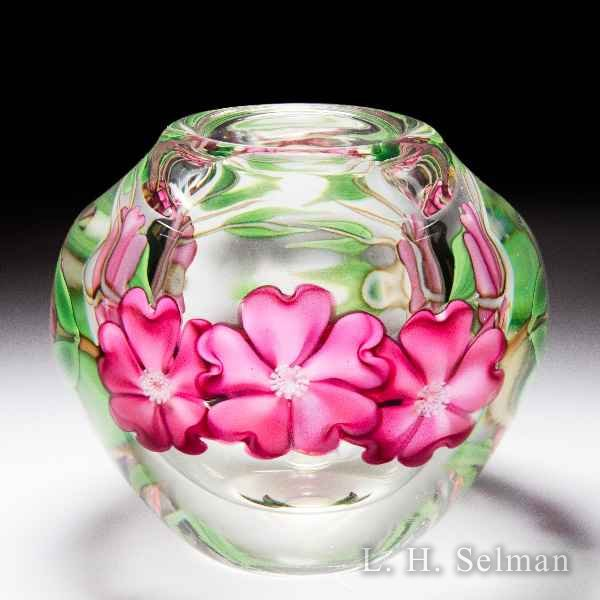 Orient & Flume pink cherry blossoms vase, by Gregg Held. by  Orient & Flume