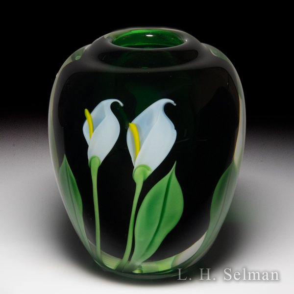Orient & Flume 1983 calla lily small vase, by Scott Beyers. by  Orient & Flume