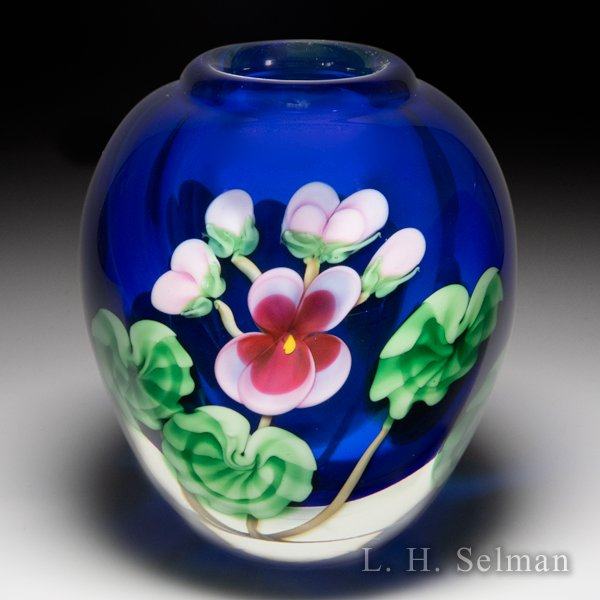 Orient & Flume pink violet compound small vase, by Ed Seaira. by Orient & Flume