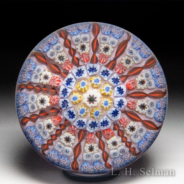 Perthshire Paperweights patterned millefiori and twists paperweight. by Perthshire Paperweights