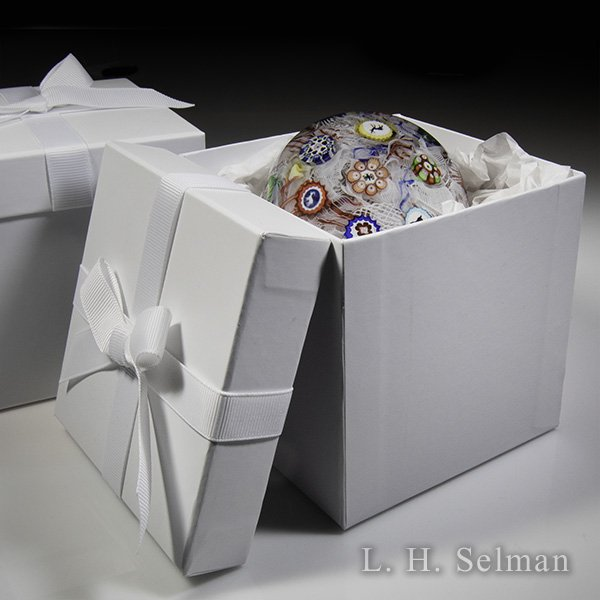 White Gift Box with Bow. by L.H. Selman Ltd.*