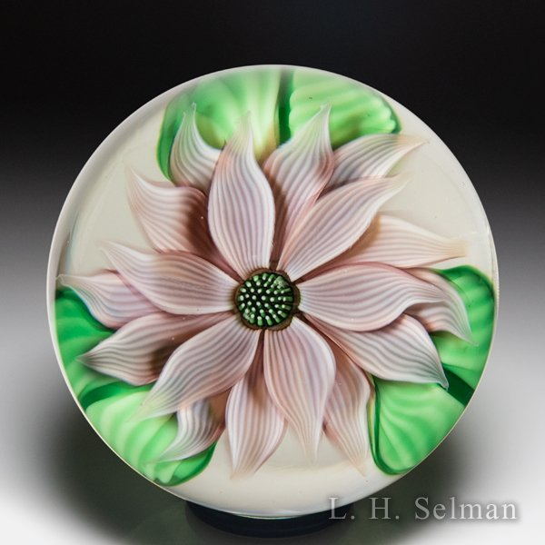 Orient & Flume mauve dahlia paperweight, by Scott Beyers. by  Orient & Flume